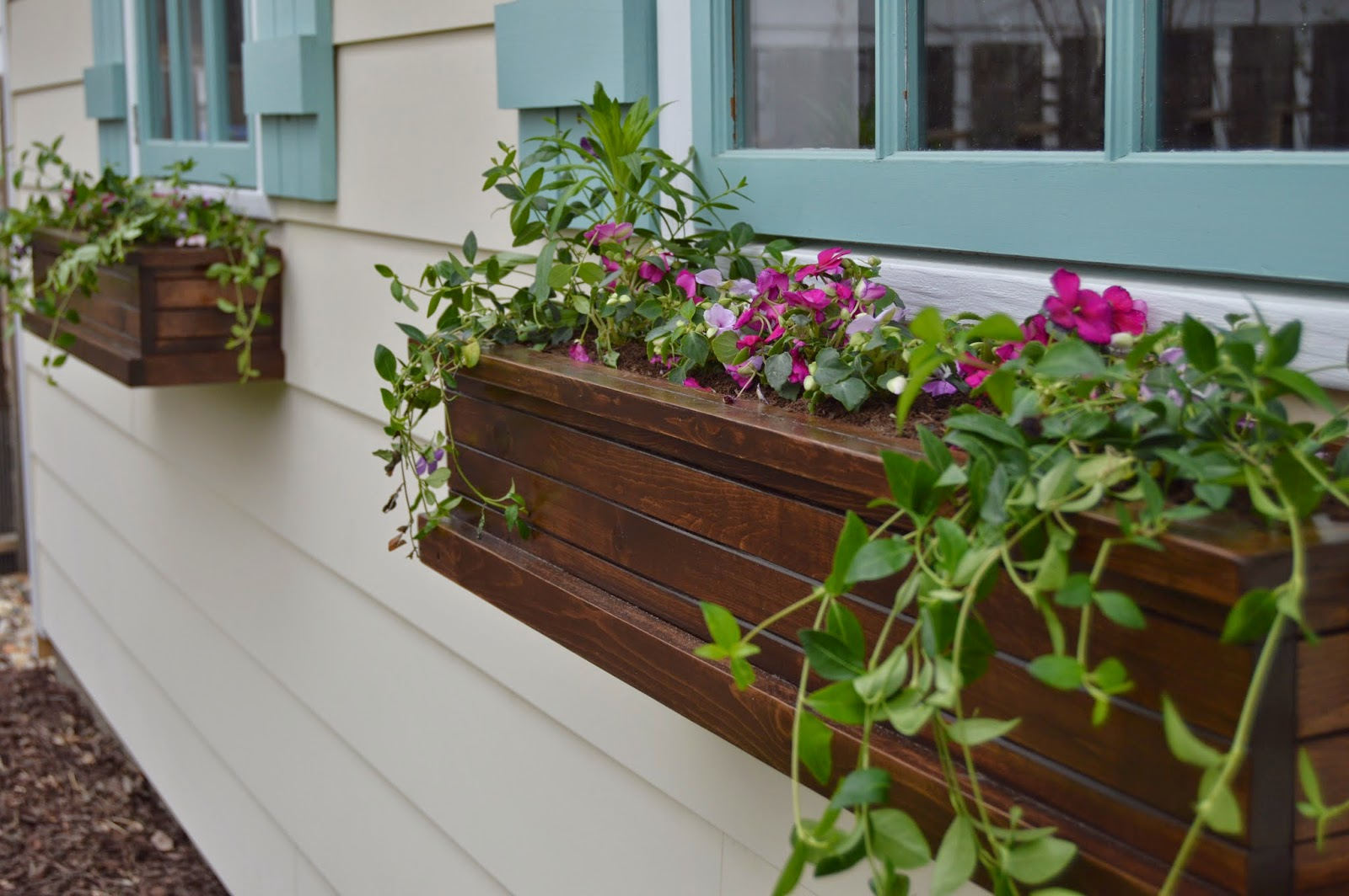 Modern coat paint window planters for spring
