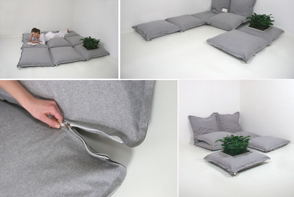 Modular Sofa pillows ZIp