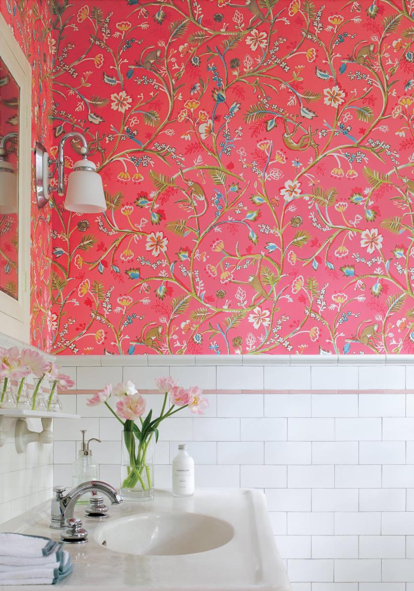 Nature bathroom wallpaper2