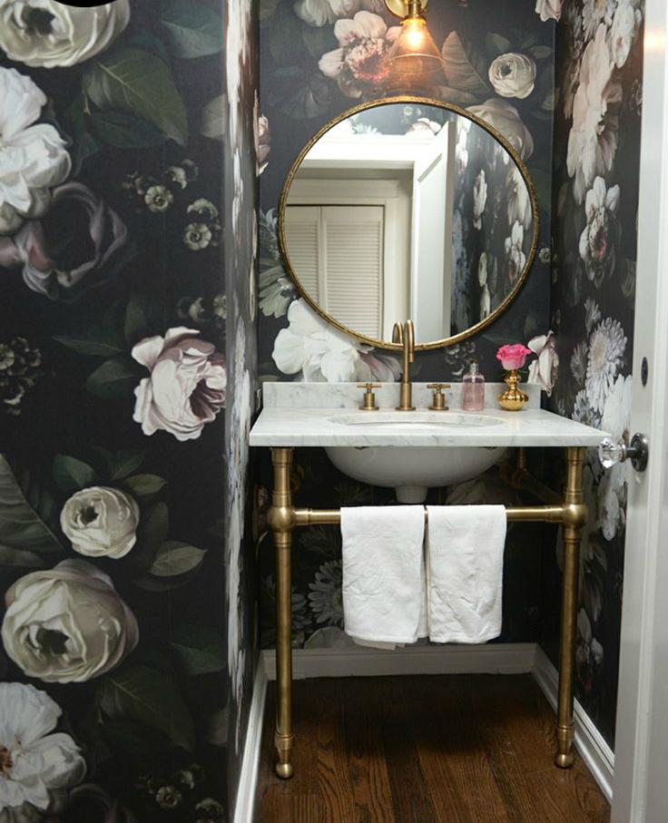 Nature bathroom wallpaper5
