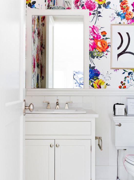 Nature bathroom wallpaper6