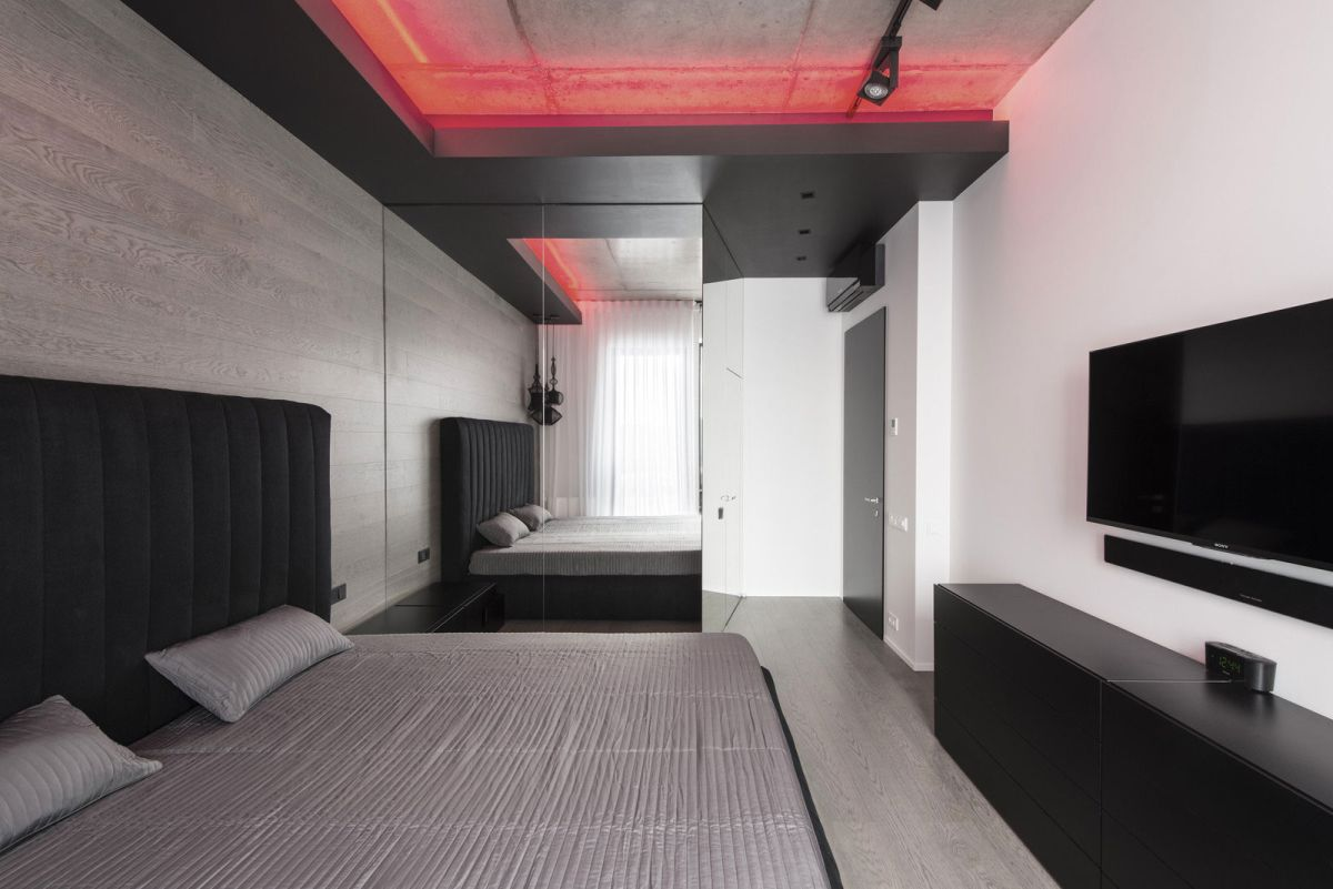 Neon Lights For Bedroom neon lights add color and uniqueness to a moscow apartment