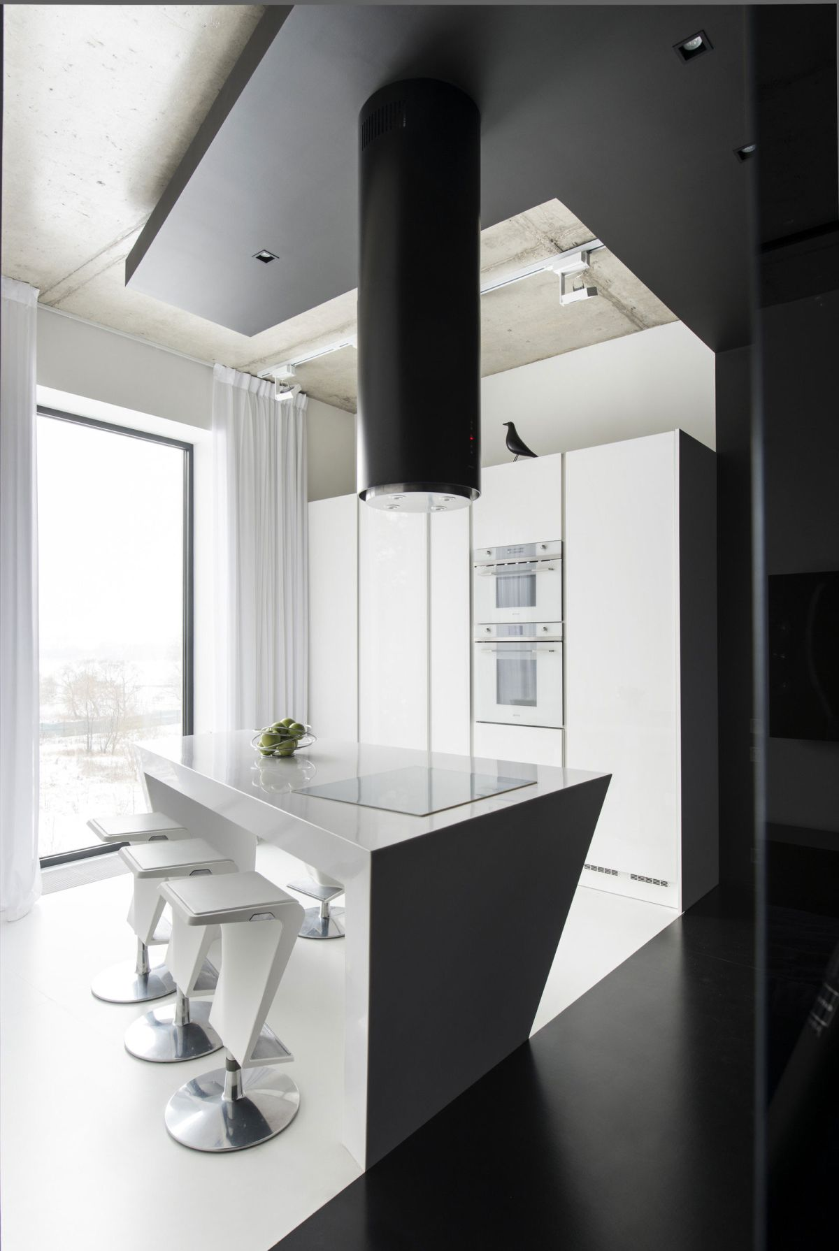 Neon Apartment in Moscow kitchen interior