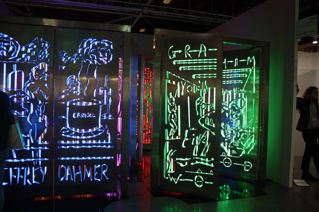 Neon room dividers