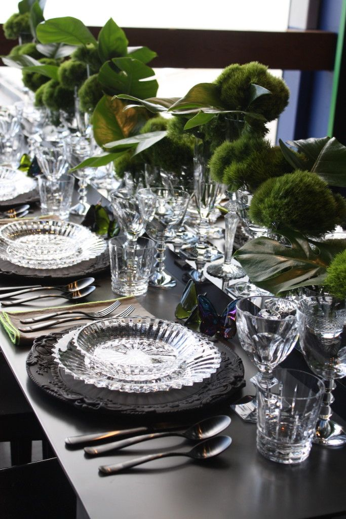 Fine crystal and natural greenery are a winning combination.