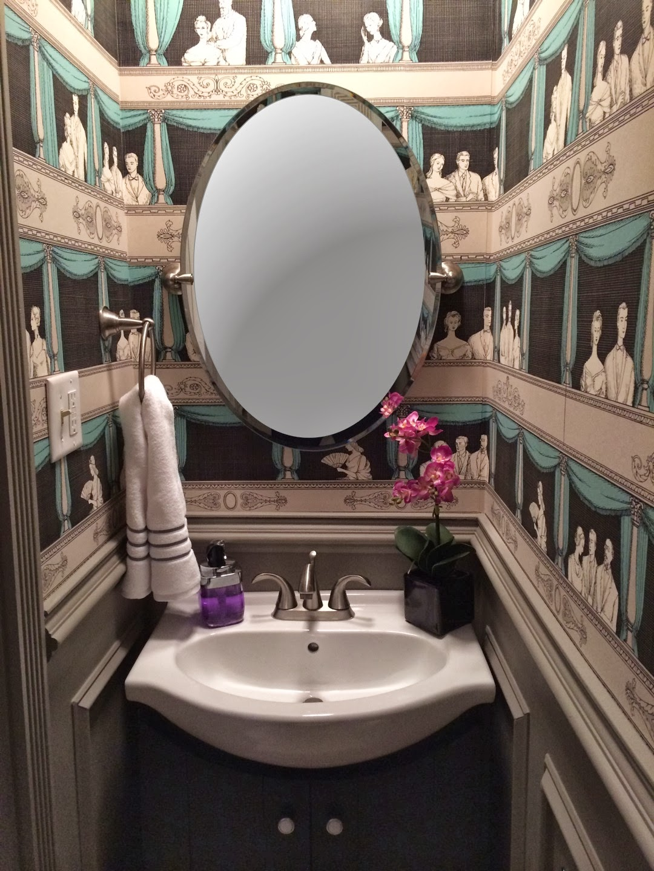 Object bathroom wallpaper5