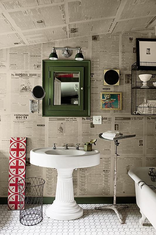 Object bathroom wallpaper7