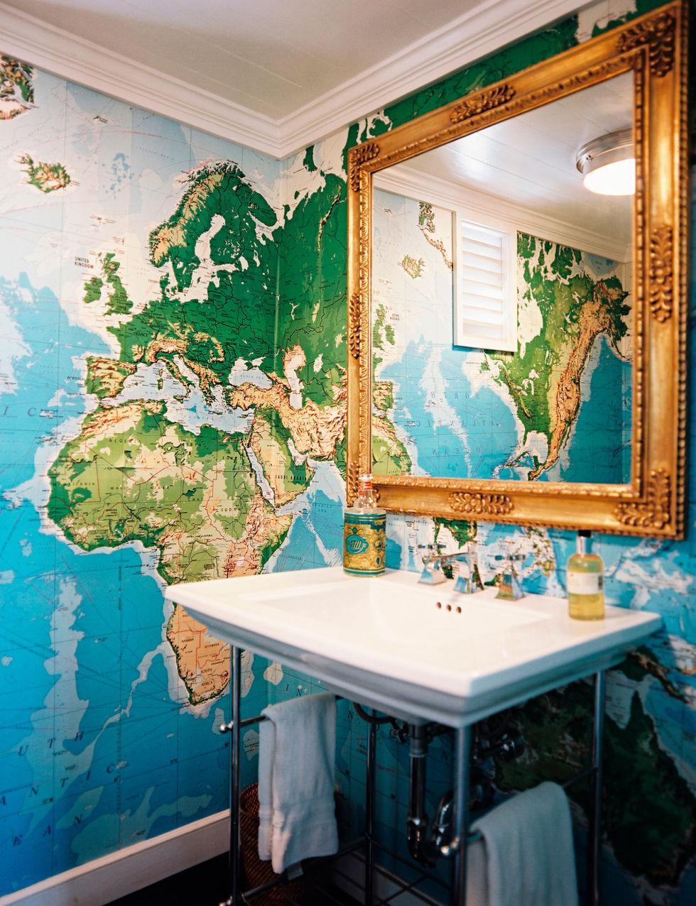 Object bathroom wallpaper9