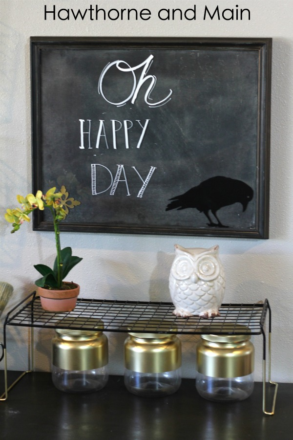 Oh happy day framed chalk