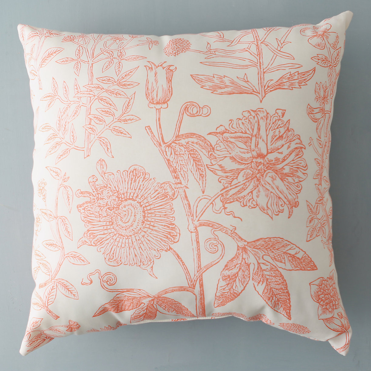 Outdoor botanical throw pillow