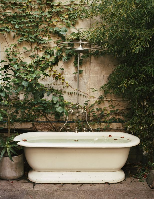 Outdoor ivy tub
