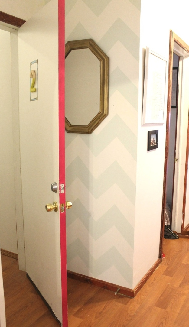 Paint the side of the door with a bright color
