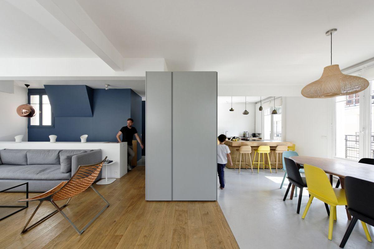 Delightful Paris Maisonette Unifies Two Apartments   Kitchen And Social Areas
