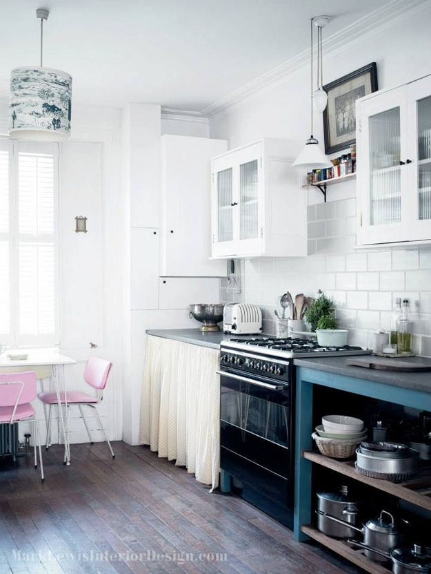 Pastel color kitchen by Mark Lewis