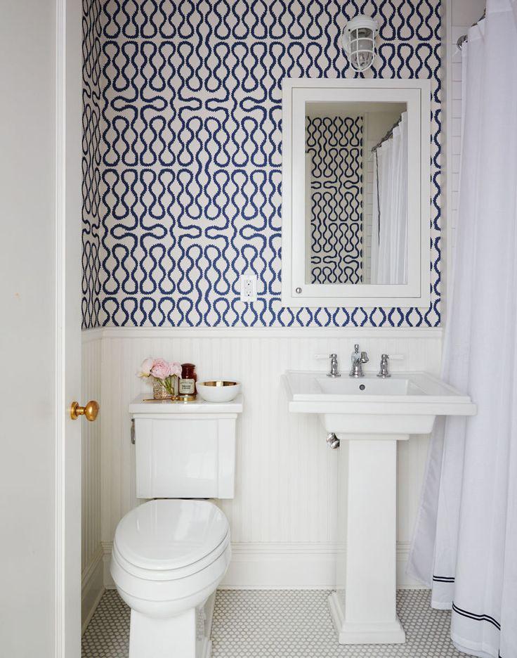 Pattern bathroom wallpaper6