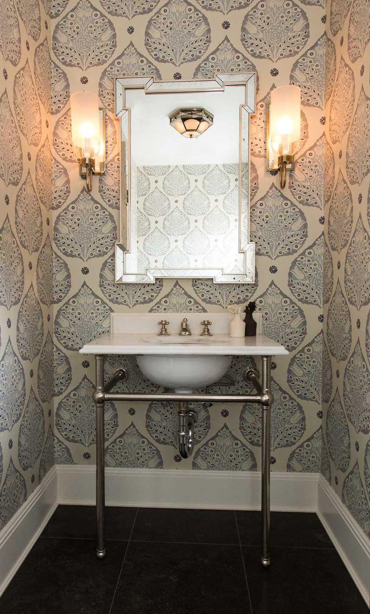 Pattern bathroom wallpaper8