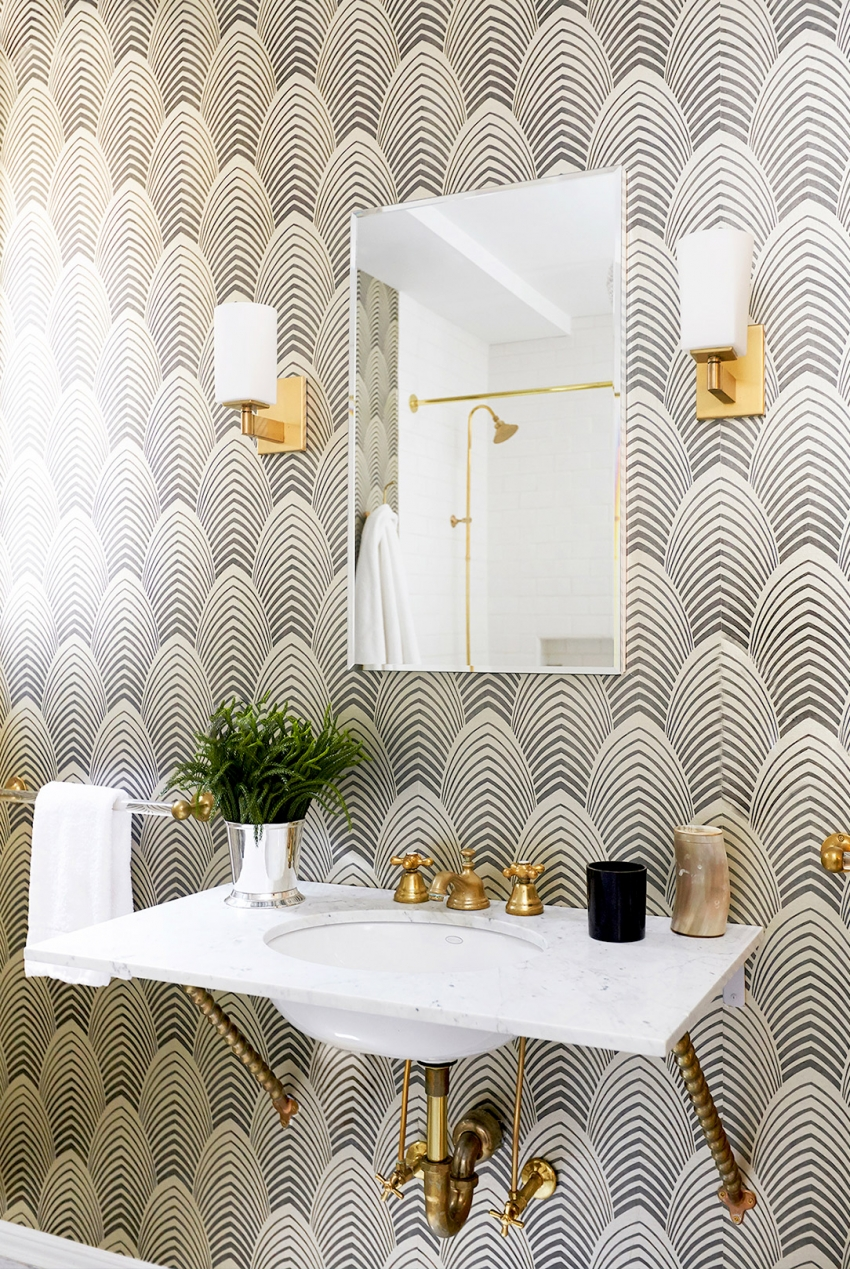 Pattern bathroom wallpaper9