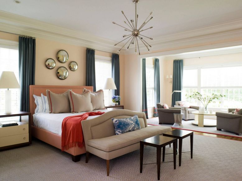 40 bedroom paint ideas to refresh your space for spring for Blue and peach bedroom ideas