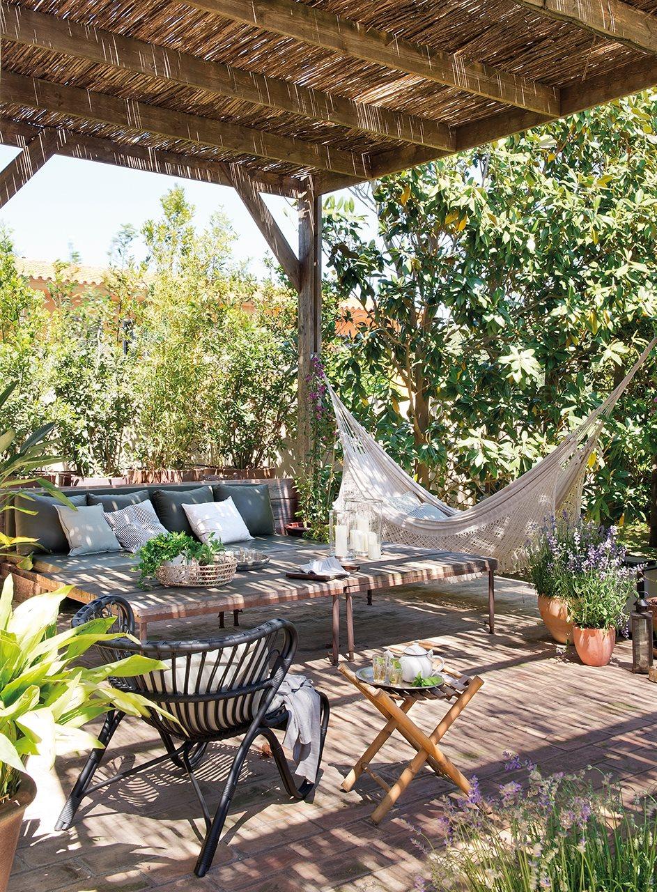 Pergola with hammock