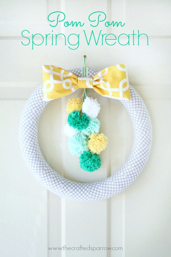 Pompom Spring wreath