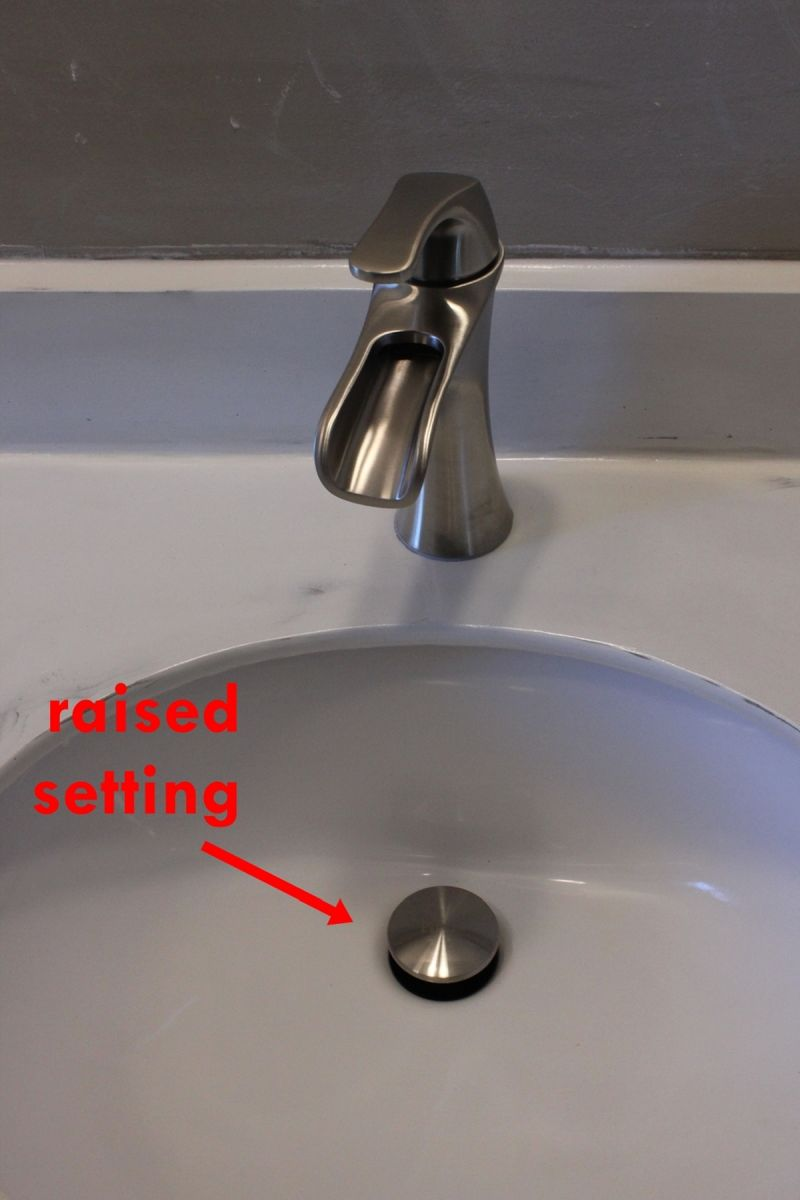 How To Remove And Install A Bathroom Faucet - Bathroom sink set up