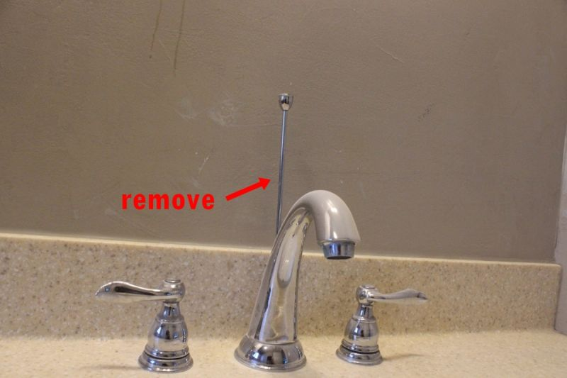 How To Remove And Install A Bathroom Faucet - Replacement bathroom sink faucet handles