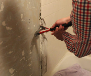 How to Remove a Tile Tub Surround with Metal Mesh