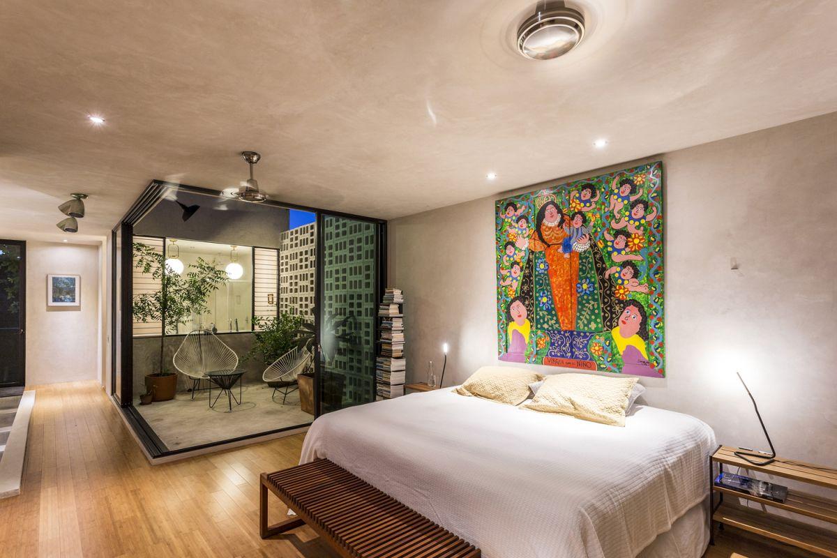 Raw House in Yucatan bedroom interior
