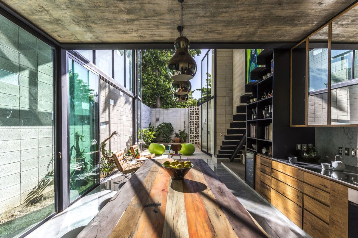 Raw House in Yucatan ground floor open to yard