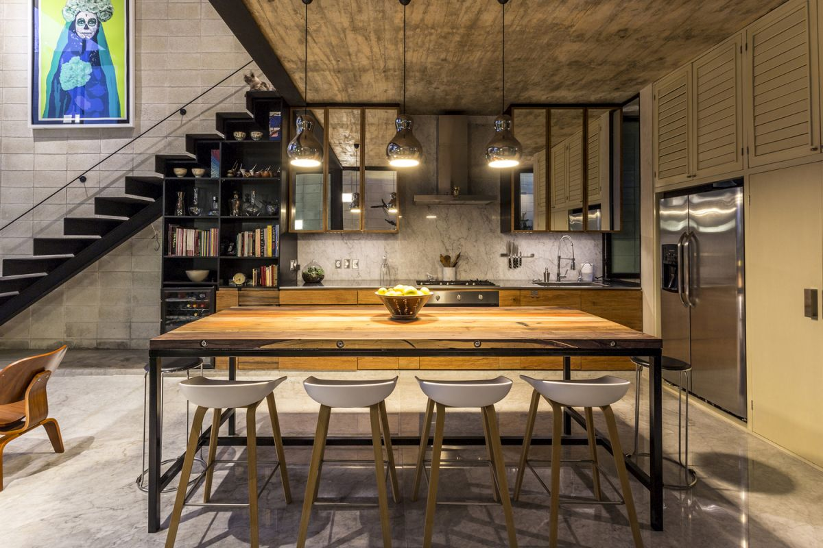 Raw House in Yucatan kitchen and dining
