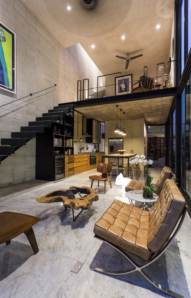 Raw House in Yucatan living area