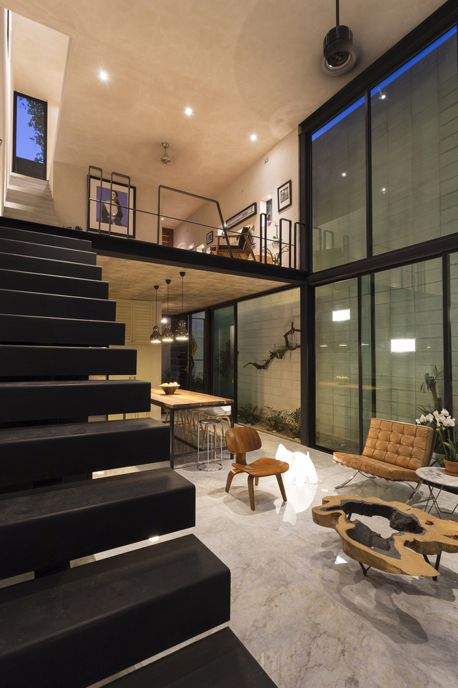 Raw House in Yucatan staircase