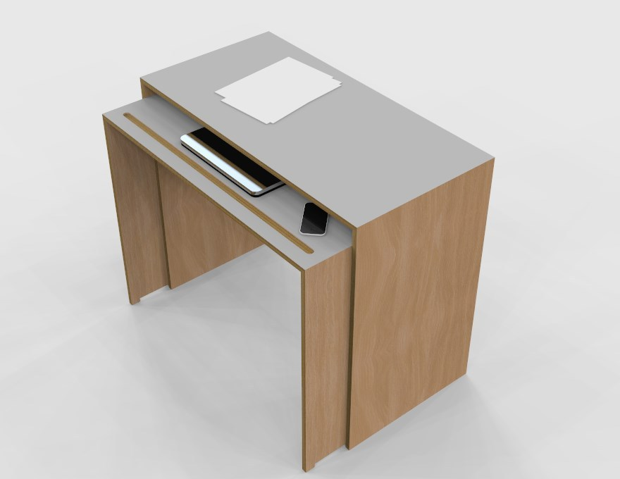 Rectangular multi layer desk small