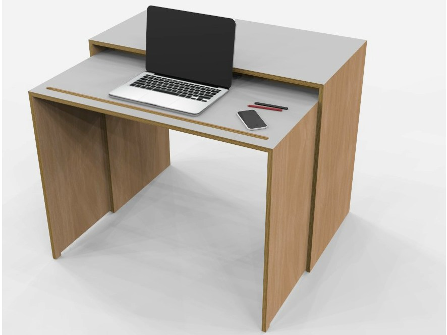 Rectangular multi layer desk