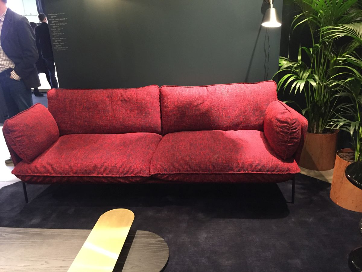 Red Two seats sofa
