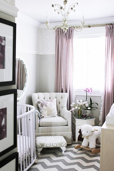Romantic nursery room