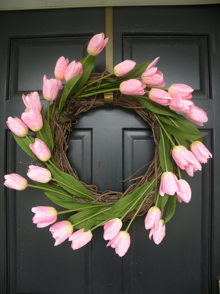 Rose quartz floral wreath