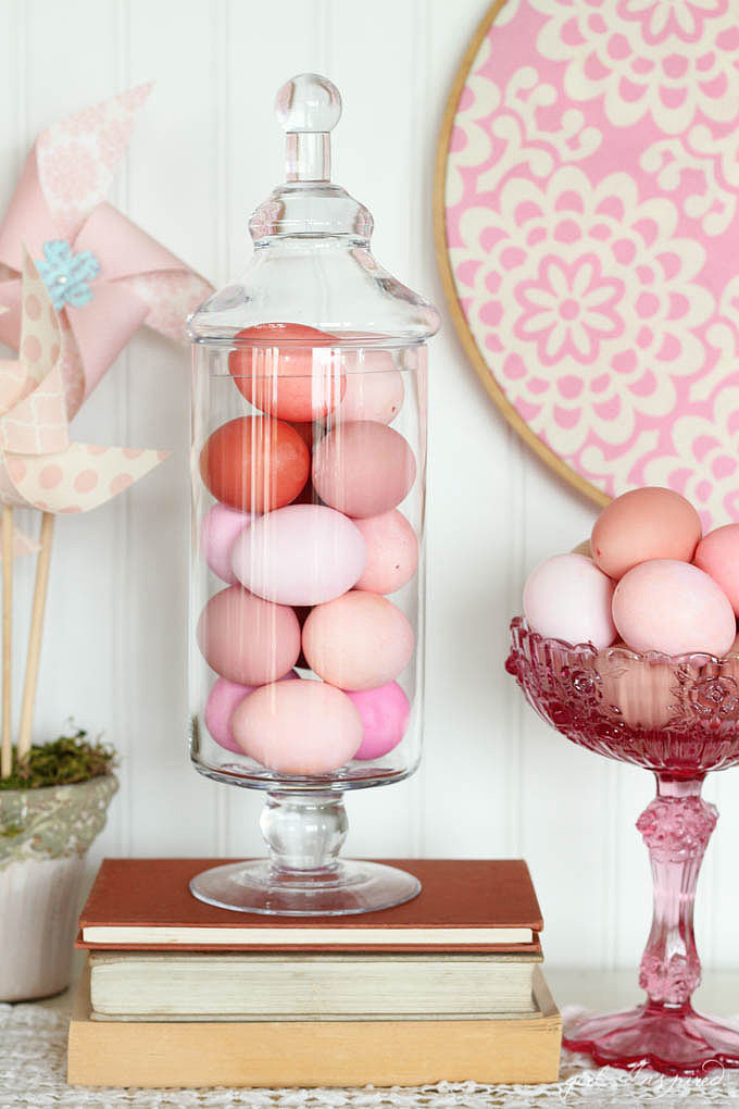 Rose quartz ombre eggs