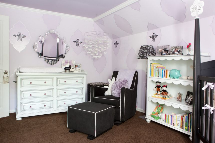 Royal classic lavender nursery room