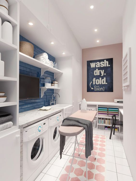 Scandinavian modern laundry room