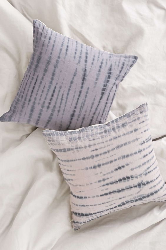 Shibori streak throw pillow