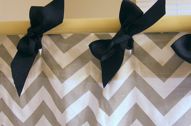Shower curtain with bows