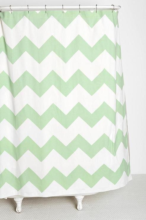 Shower curtains with chevron design