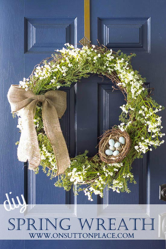 Simply spring wreath