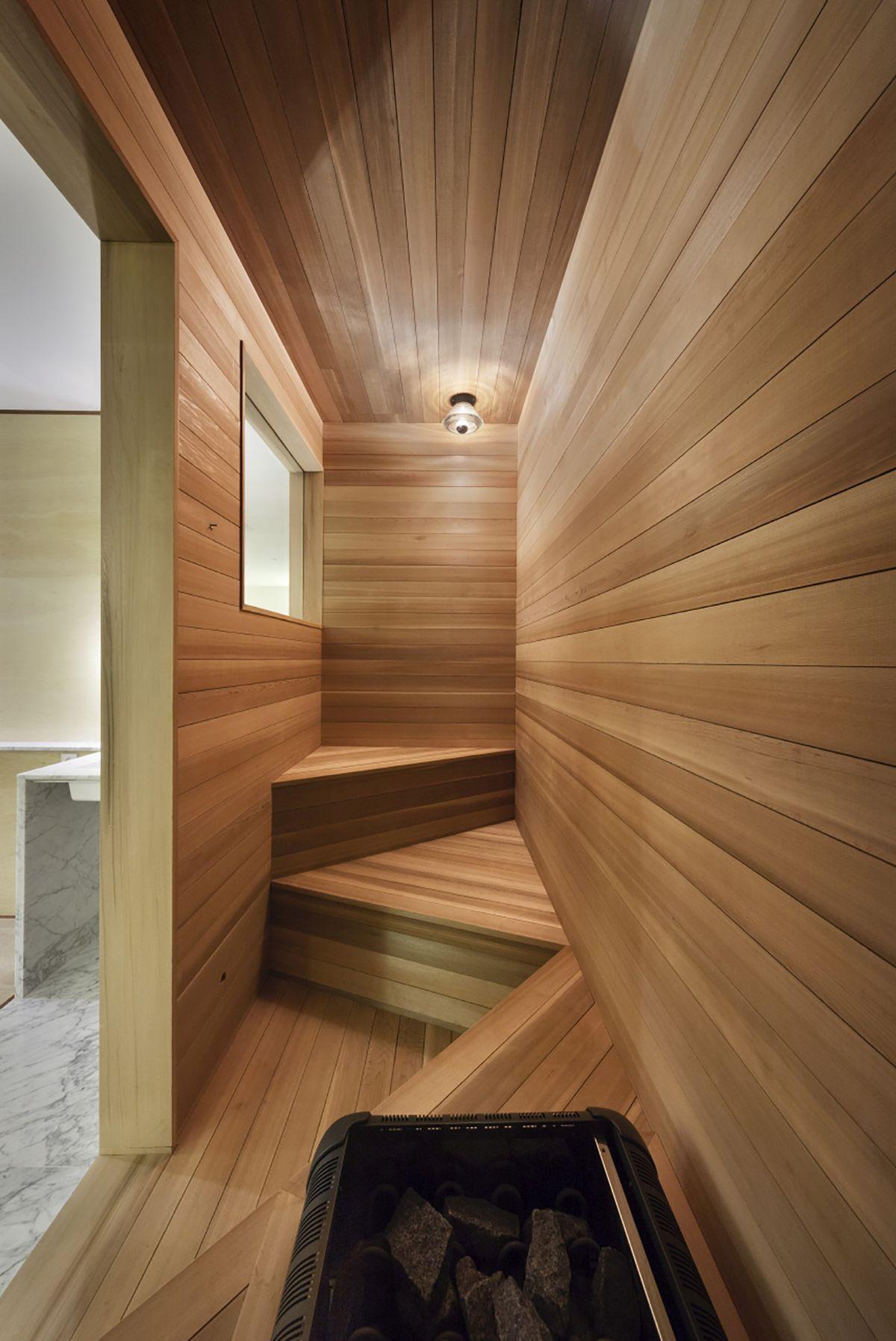 Snow hotel sauna