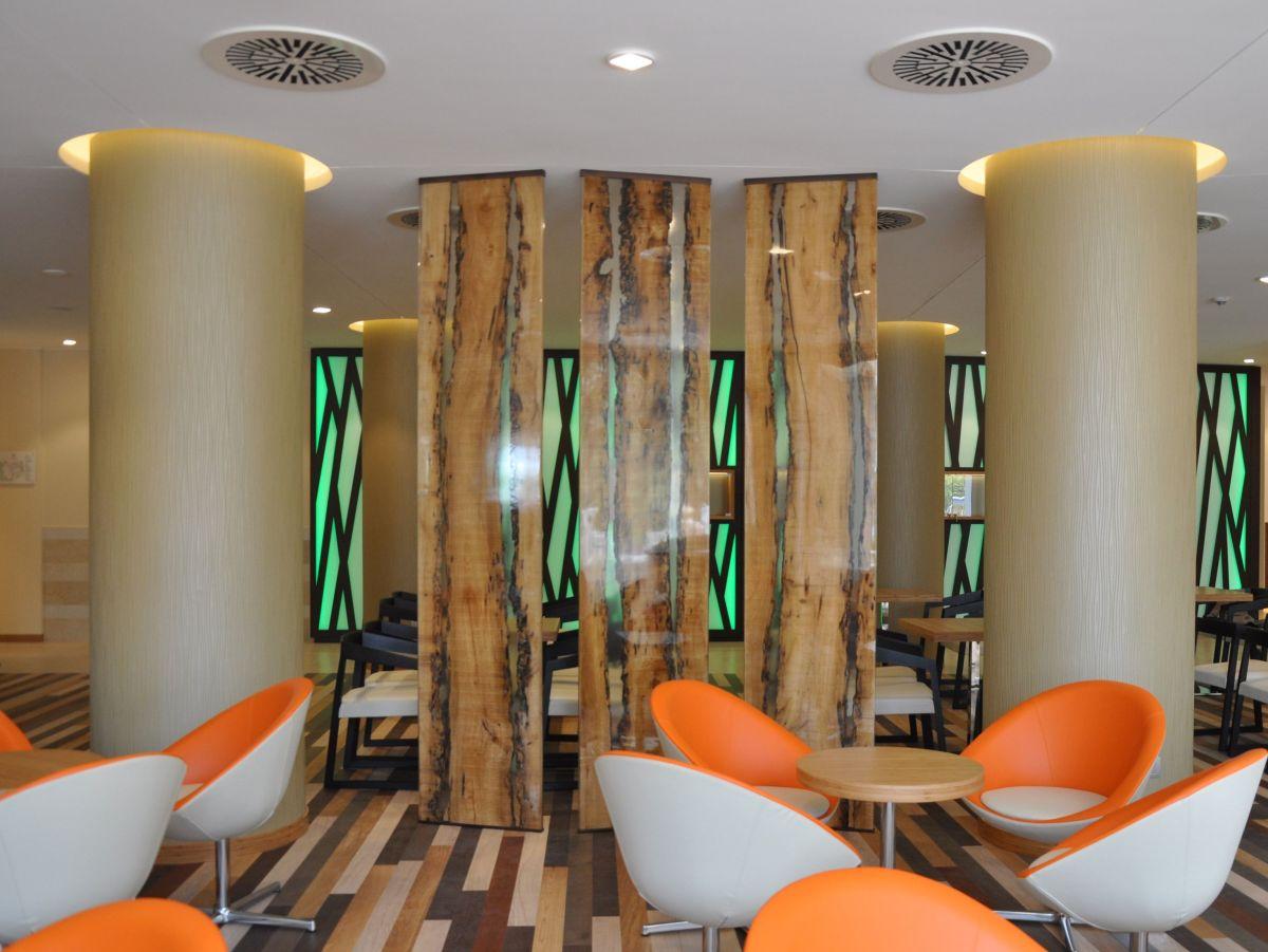 Solid wood resin divider