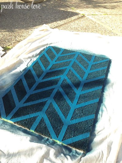 Spray paint doormat