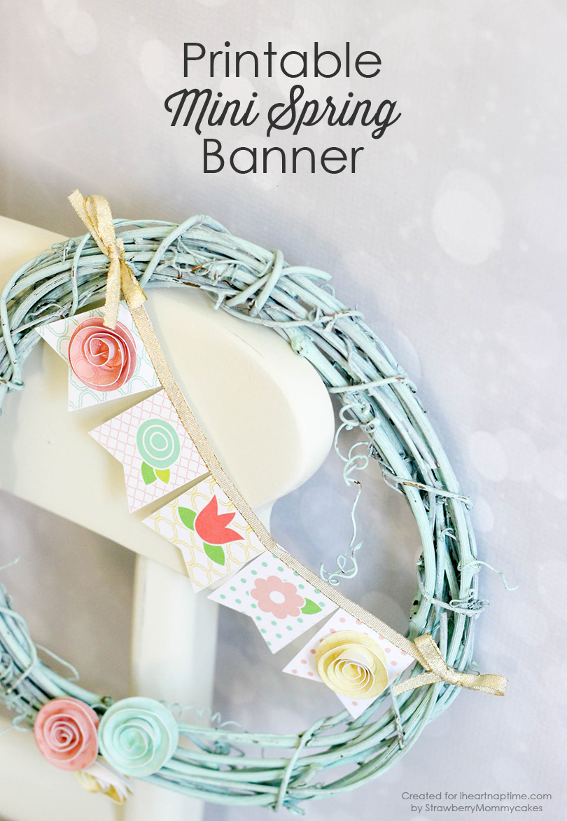 Spring banner wreath