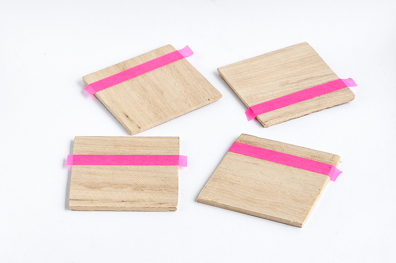 Square wooden for coasters