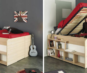 Clever Bed Designs With Integrated Storage For Max Efficiency